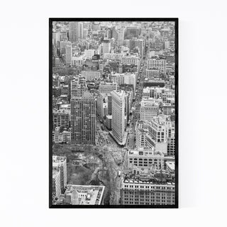 Noir Gallery Black White New York City Photo Framed Art Print