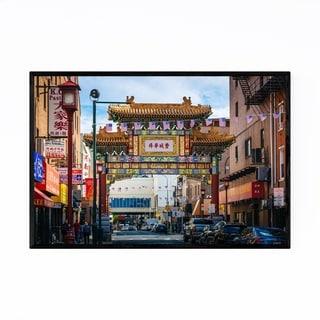 Noir Gallery Philadelphia Chinatown Arch Framed Art Print