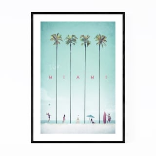 Noir Gallery Minimal Travel Poster Miami Framed Art Print