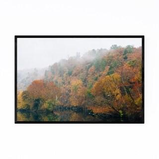 Noir Gallery Virginia James River Autumn Fall Framed Art Print