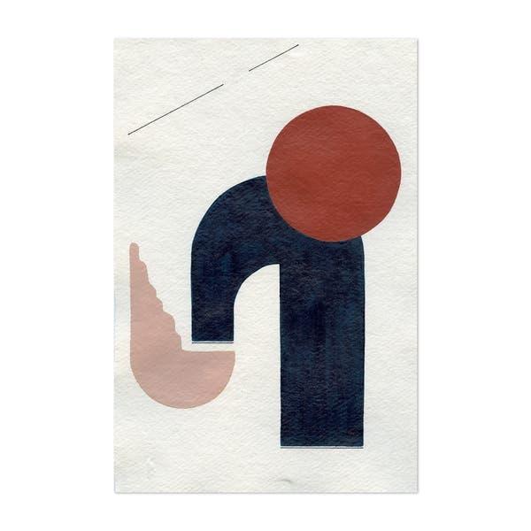 Noir Gallery Abstract Minimal Geometric Shape Unframed Art Print Poster