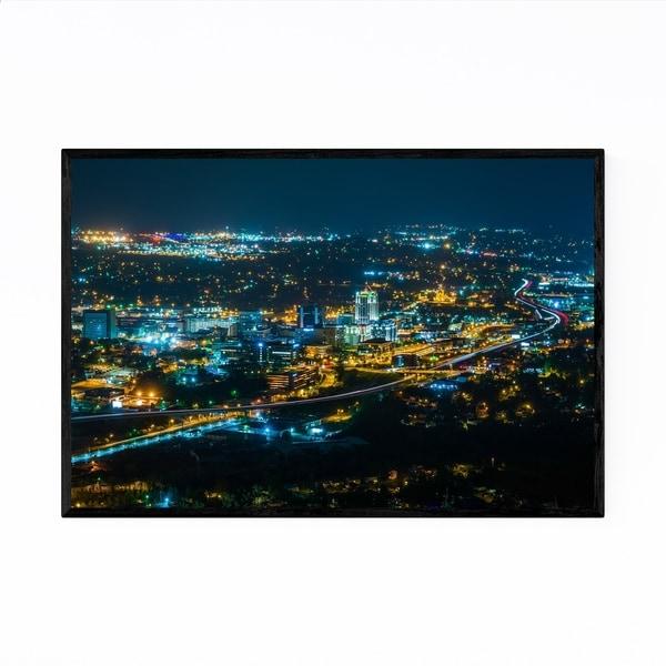Noir Gallery Virginia Roanoke City Skyline Framed Art Print