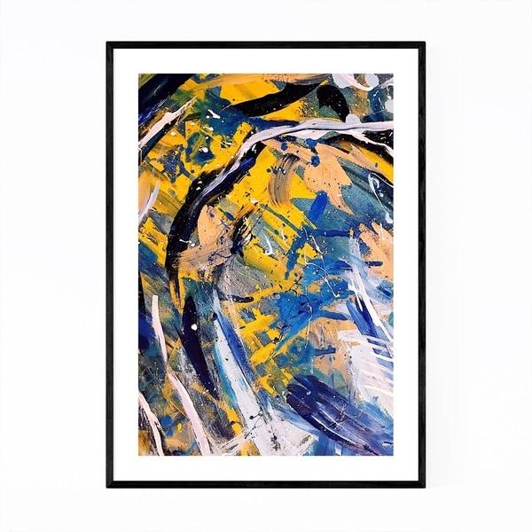 Noir Gallery Brush Abstract Splatter Painting Framed Art Print