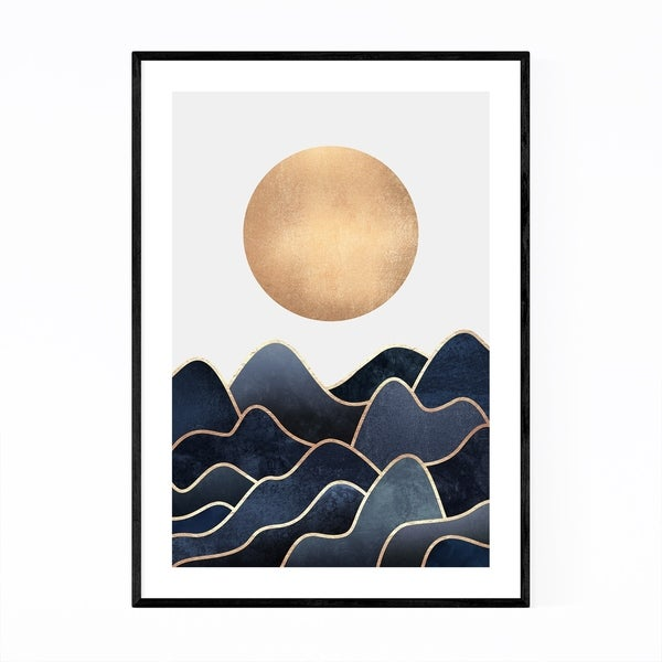 Noir Gallery Blue Waves Ocean Coastal Nature Framed Art Print