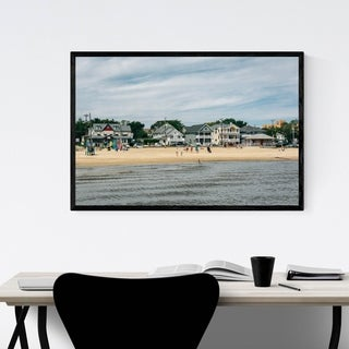 Noir Gallery Somers Point, New Jersey Beach Framed Art Print