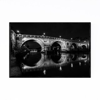 Noir Gallery Black & White Rome Italy Urban Framed Art Print