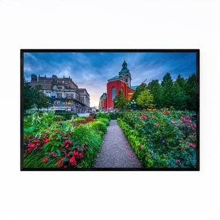 Noir Gallery Stockholm Sweden Gardens Framed Art Print