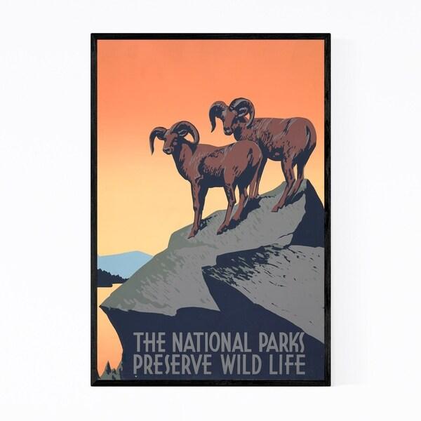 Noir Gallery National Parks Wildlife Poster Framed Art Print