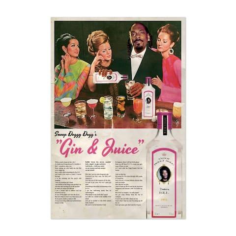 Noir Gallery Snoop Dogg Hip Hop Music Alcohol Unframed Art Print/Poster