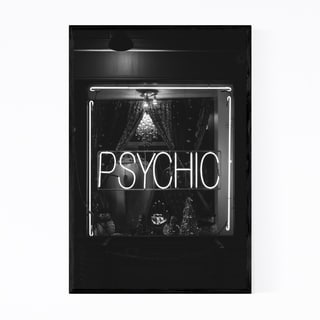 Noir Gallery Black & White New York Psychic Framed Art Print