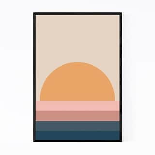 Noir Gallery Retro Abstract Sunset Framed Art Print