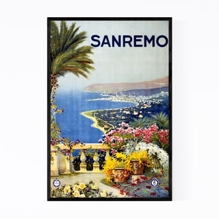 Noir Gallery Sanremo, Italy Travel Poster Framed Art Print