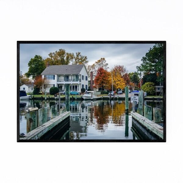 Noir Gallery St. Michaels Maryland Harbor Framed Art Print