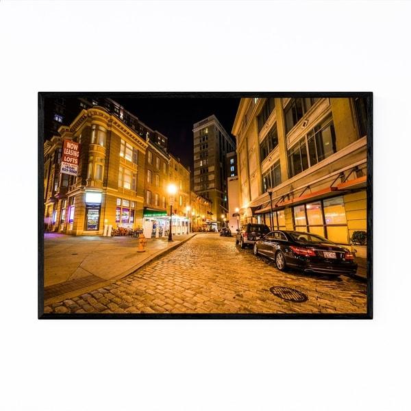 Noir Gallery Cobblestone Street Baltimore MD Framed Art Print