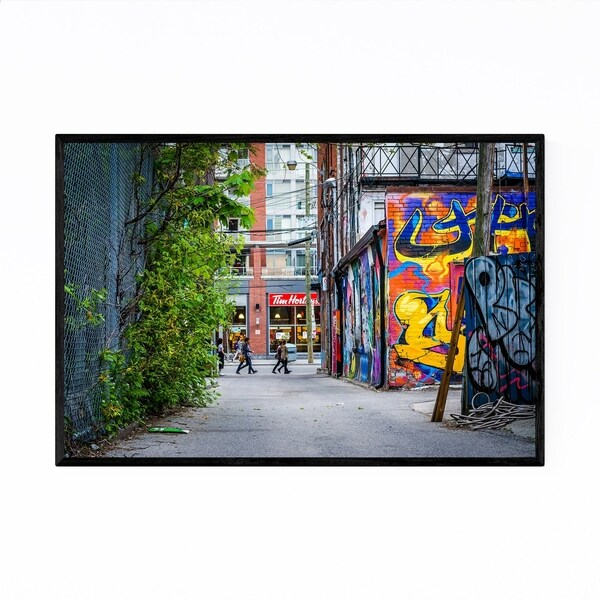 Noir Gallery Toronto Queen West Graffiti Framed Art Print