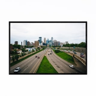 Noir Gallery Minneapolis Skyline Minnesota Framed Art Print