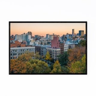 Noir Gallery Harlem Autumn Manhattan NYC Framed Art Print