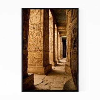 Noir Gallery Colonnade Luxor Egypt Framed Art Print