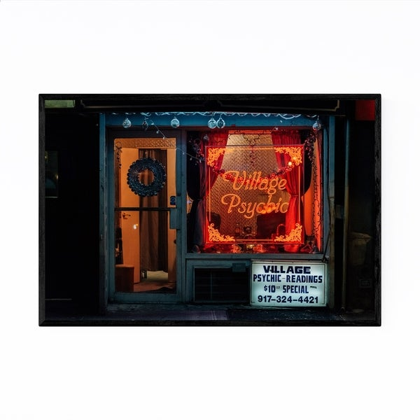 Noir Gallery Psychic Neon Sign New York City Framed Art Print