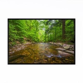 Noir Gallery Ricketts Glen Waterfall Forest Framed Art Print