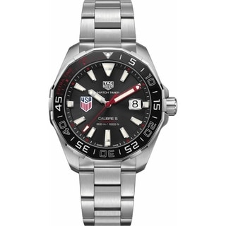 Link to Tag Heuer Men's WAY201G.BA0927 'Aquaracer' Stainless Steel Watch Similar Items in Men's Watches