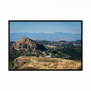 Noir Gallery Malibu California Mountains Framed Art Print