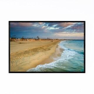 Noir Gallery Seal Beach California Sunset Framed Art Print