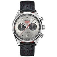 Tag Heuer Men's CV2119.FC6310 'Carrera' Chronograph Black Leather Watch