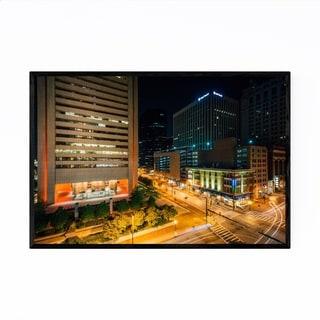 Noir Gallery Downtown Skyline Baltimore MD Framed Art Print