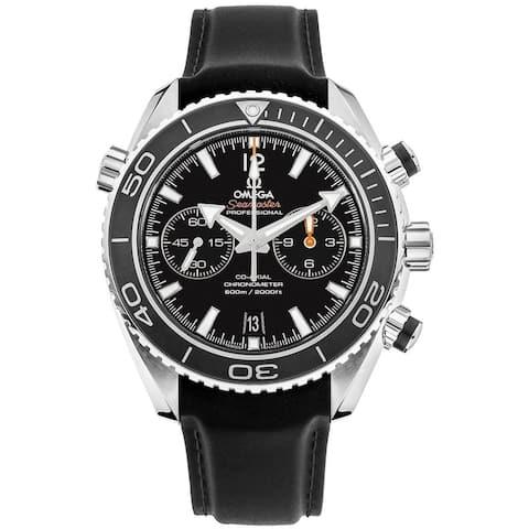 Omega Men's 232.32.46.51.01.003 'Seamaster Planet Ocean' Chronograph Black Rubber Watch