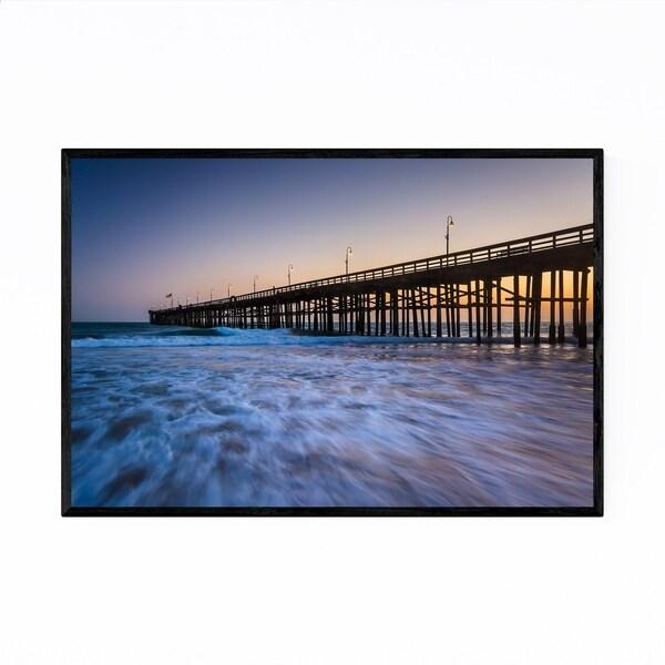 Noir Gallery Coastal Ventura Pier California Framed Art Print