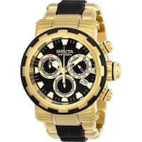 Invicta Men's 23980 'Specialty' Black and Gold-Tone Polyurethane and Stainless Steel Watch