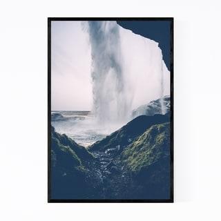 Noir Gallery Seljalandsfoss Waterfall Iceland Framed Art Print