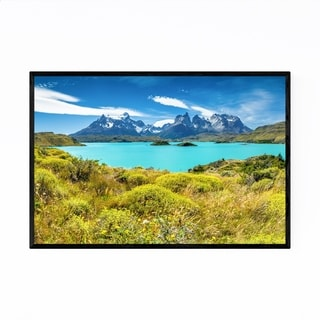 Noir Gallery Torres del Paine Patagonia Chile Framed Art Print