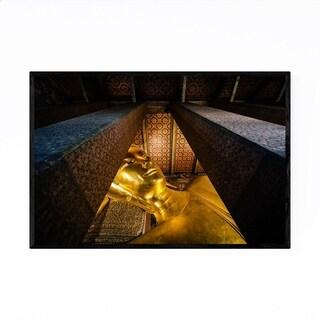 Noir Gallery Bangkok Wat Pho Reclining Buddha Framed Art Print