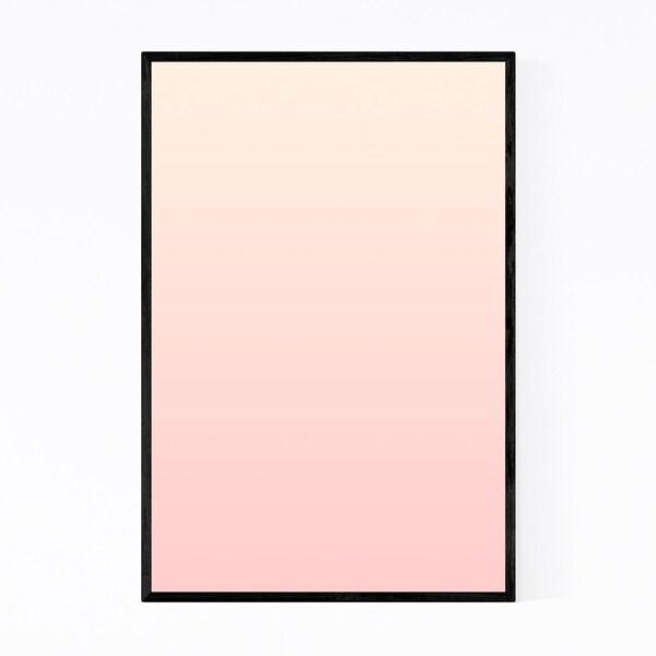 Noir Gallery Minimal Gradient Pastel Pink Framed Art Print