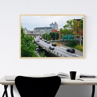 Noir Gallery BQE Brooklyn New York City Framed Art Print