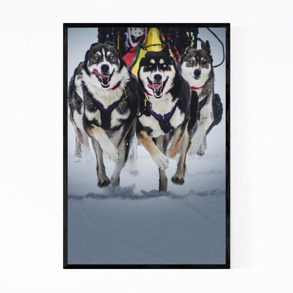 Noir Gallery Dogs Running Switzerland Framed Art Print