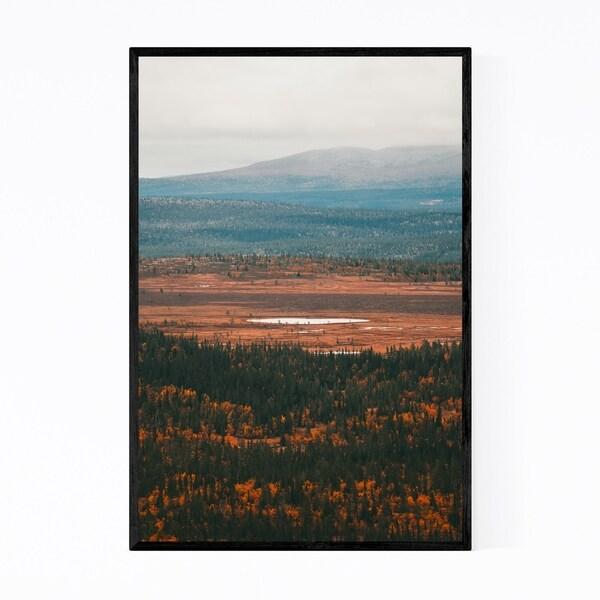 Noir Gallery Sweden Landscape Nature Lake Framed Art Print