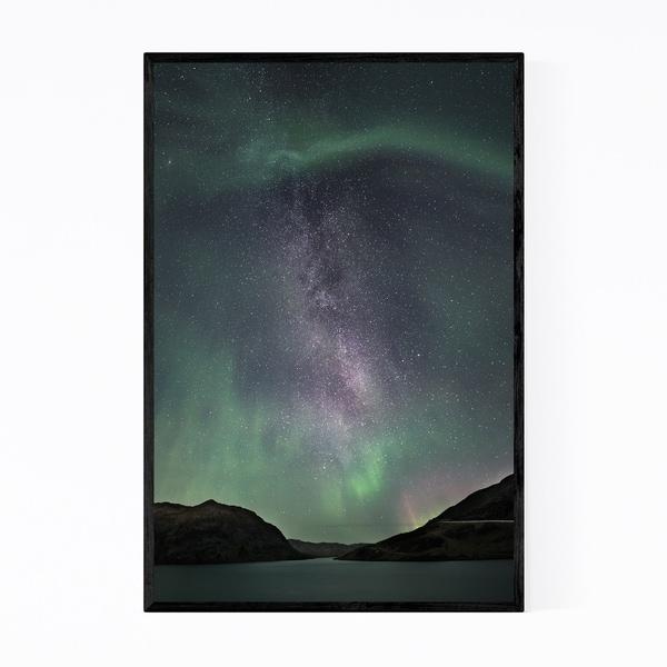 Noir Gallery Aurora Borealis Norway Nature Framed Art Print