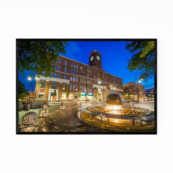 Noir Gallery Cambridge Kendall Square Night Framed Art Print