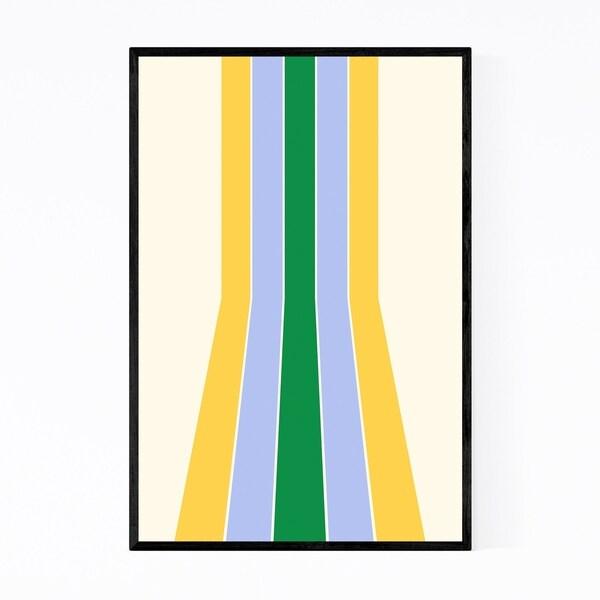 Noir Gallery Retro Abstract Pastel Line Framed Art Print