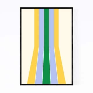 Noir Gallery Retro Abstract Pastel Line Framed Art Print