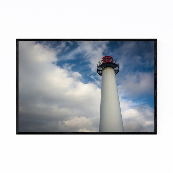 Noir Gallery Long Beach Lighthouse California Framed Art Print