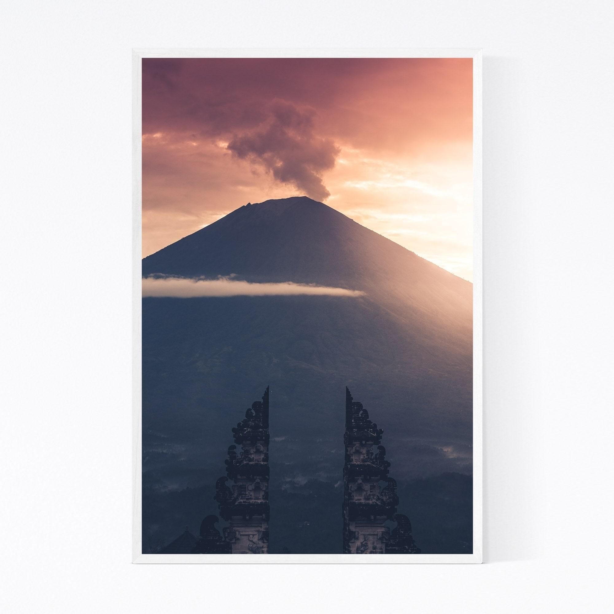 Shop Noir Gallery Volcano Bali Indonesia Landscape Framed Art