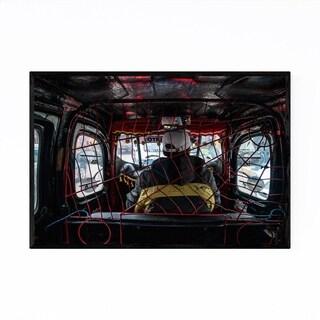 Noir Gallery Puno Peru Spiderman Taxi Framed Art Print