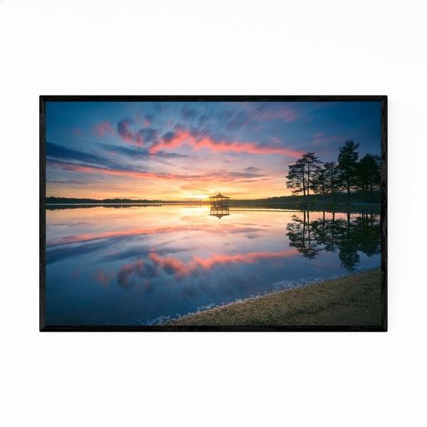 Noir Gallery Lydala Lake Sunset Umea Sweden Framed Art Print