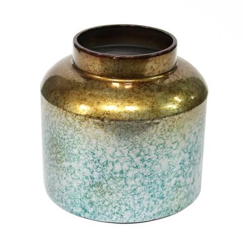 Stratton Home Decor Round Metal Ombre Vase