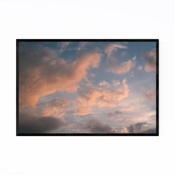 Noir Gallery Clouds in Sky at Sunset Nature Framed Art Print