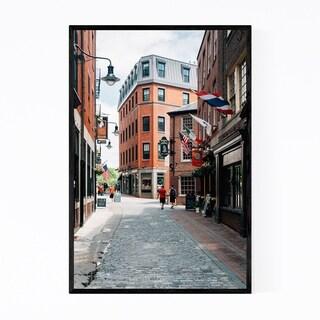 Noir Gallery Boston Cobblestone Street Framed Art Print